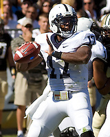 October 03, 2008: Penn State quarterback Daryll Clark. The Penn State Nittany Lions defeated the Purdue Boilermakers 20-06 on October 03, 2008 at Ross-Ade Stadium, West Lafayette, Indiana.