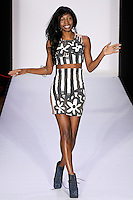Fashion designer Samantha Black, wasks runway at the close of her Samantha Black Spring Summer 2012 collection fashion show, during Style 360 Fashion Week Spring 2012.