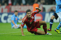 FUSSBALL   CHAMPIONS LEAGUE   SAISON 2011/2012     02.11.2011 FC Bayern Muenchen - SSC Neapel JUBEL FC Bayern; Mario Gomez  nach seinem dritten Tor zum 3-0 Zwischenstand