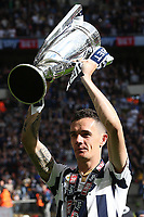 Millwall's Shaun Williams celebrates winning the Division One Play-Off Final during Bradford City vs Millwall, Sky Bet EFL League 1 Play-Off Final at Wembley Stadium on 20th May 2017