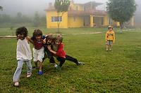 Lucas, Felix, Aura, Gabriel and Eliot at SJLL. Building the Wiseman house, San Jose los Laureles, Mexico