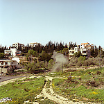 A controlled explosion of found unexploded ordnance at the Central Demolition Site (CDS), Basouriah, Southern Lebanon