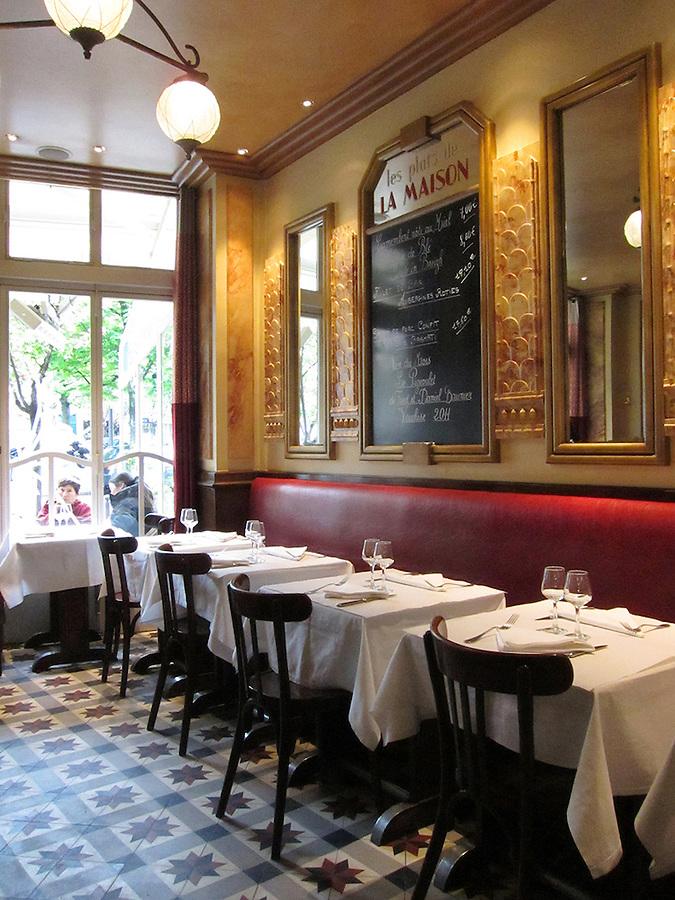 Interior of Restaurant, Paris, France