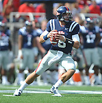 Mississippi quarterback Zack Stoudt (8) looks to pass against Georgia at Vaught-Hemingway Stadium in Oxford, Miss. on Saturday, September 24, 2011. Georgia won 27-13. (AP Photo/Oxford Eagle, Bruce Newman)..