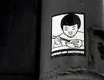 Hong Kong urban scene - Chinese USe Chopsticks sticker