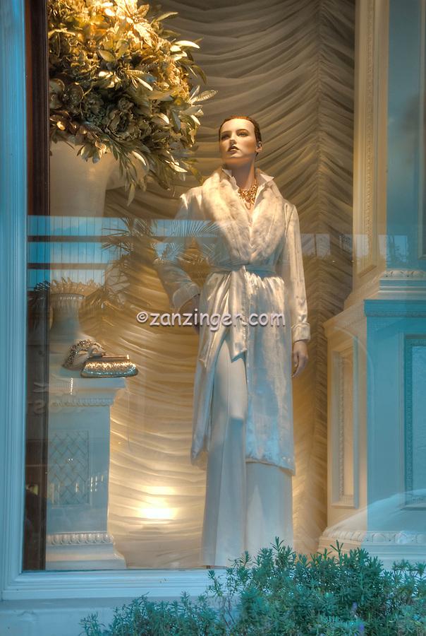 Ralph Lauren, Beverly Hills CA; Rodeo Drive; Window Mannequin, Luxury Street Shopping , Vertical image