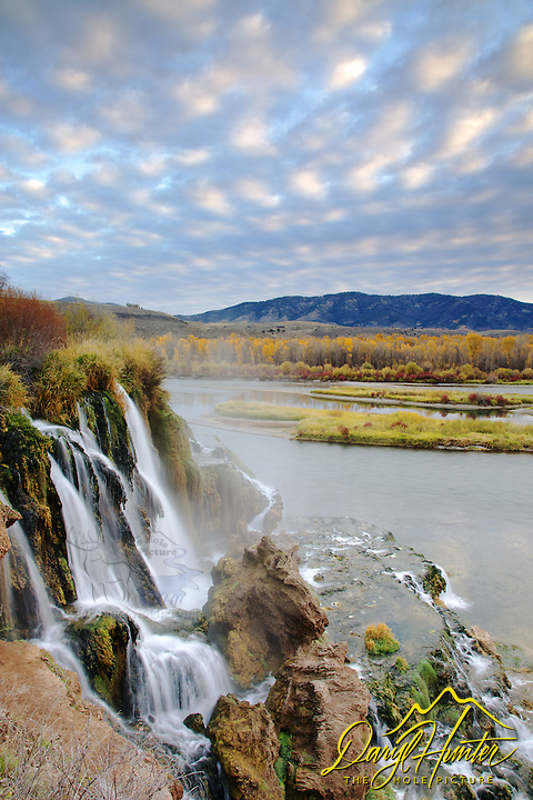 Fall Creek Falls, Autumn Sunrise, Southfork Snake River, Swan Valley, Idaho