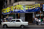 Yellow election posters hang in Cairo for the Muslim Brotherhood's Freedom and Justice party as demonstrations are continue in Cairo's Tahrir Square, a day before Egyptians will vote in the first round of parliamentary elections. . The Muslim Brotherhood, or al-Ikhwan al-Muslimun, is Egypt's oldest and largest Islamist organisation. The Freedom and Justice party received legal status in June of 2011 and is the largest and best organized political group in Egypt. It is expected to make strong gains in the elections through its newly formed Freedom and Justice Party. The Brotherhood runs for half of the parliament seats.