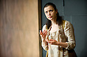 """Bath, UK. 06/10/2011. """"Iphigenia"""" opens at the Ustinov Studio, Theatre Royal Bath. Picture shows Laura Rees (as Iphigenia). Photo credit: Jane Hobson"""