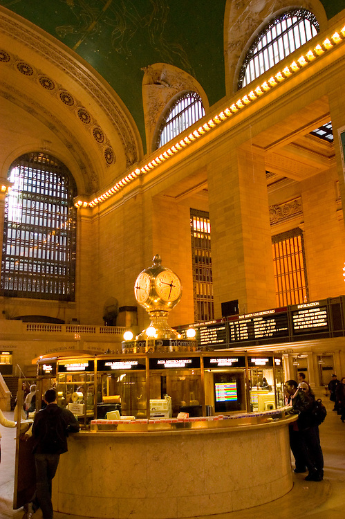 New York City, New York: Grand Central Station  .Photo #: ny286-14937 .Photo copyright Lee Foster, www.fostertravel.com, lee@fostertravel.com, 510-549-2202.
