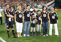 Jaime and his family during festivities surrounding the final appearance of Jaime Moreno in a D.C. United uniform, at RFK Stadium, in Washington D.C. on October 23, 2010. Toronto won 3-2.