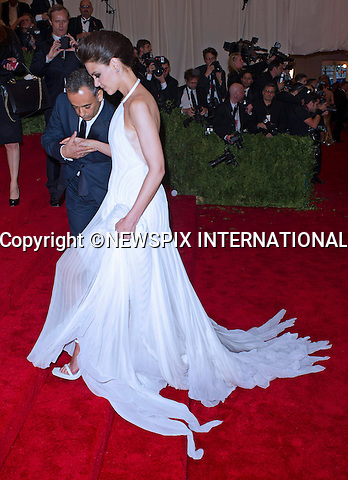 """KATIE HOLMES.attends the Costume Institute Gala at the Metropolitan Museum of Art, New York.The event is considered the Oscars of the Fashion world_06/05/2013.Mandatory credit photo:©Dias/NEWSPIX INTERNATIONAL..**ALL FEES PAYABLE TO: """"NEWSPIX INTERNATIONAL""""**..PHOTO CREDIT MANDATORY!!: NEWSPIX INTERNATIONAL(Failure to credit will incur a surcharge of 100% of reproduction fees)..IMMEDIATE CONFIRMATION OF USAGE REQUIRED:.Newspix International, 31 Chinnery Hill, Bishop's Stortford, ENGLAND CM23 3PS.Tel:+441279 324672  ; Fax: +441279656877.Mobile:  0777568 1153.e-mail: info@newspixinternational.co.uk"""