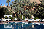 Africa, Morocco, Ouarzazate. Berber Palace Pool.