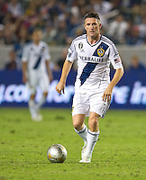 CARSON, CA - July 4, 2012: LA Galaxy forward Robbie Keane (7) during the LA Galaxy vs Philadelphia Union match at the Home Depot Center in Carson, California. Final score LA Galaxy 1, Philadelphia Union 2.