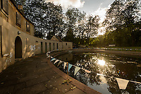 Cleveland Poools, Bath, UK, July 28, 2015. The Cleveland Pools and the UK's oldest existing Georgian lido. The pools were built around 1815 and stayed open until 1984. Now disused, a project is underway to restore them to their former glory.