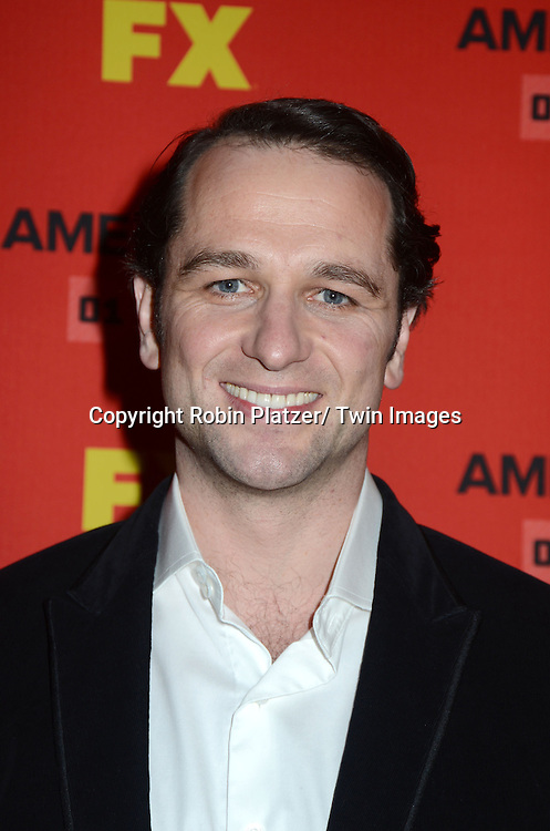 """Matthew Rhys attends the premiere screening in New York City of """"The Americans"""" on January 26, 2013 at The DGA Theatre. The tv series will be on FX starting on January 30, 2013 and stars Keri Russell, Matthew Rhys, Noah Emmerich, Holly Taylor and Keidrick Sellati."""