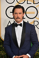 Milo Ventimiglia at the 74th Golden Globe Awards  at The Beverly Hilton Hotel, Los Angeles USA 8th January  2017<br /> Picture: Paul Smith/Featureflash/SilverHub 0208 004 5359 sales@silverhubmedia.com