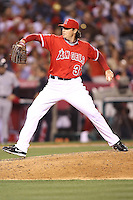 05/29/12 Anaheim, CA: Los Angeles Angels relief pitcher Scott Downs #37 during an MLB game played between the New York Yankees and the Los Angeles Angels at Angel Stadium. The Angels defeated the Yankees 5-1.