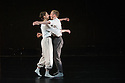 "London, UK. 15.04.2014. HeadSpaceDance present IF PLAY IS PLAY..., a triple bill of new work, in the Linbury Studio, Royal Opera House, London. Picture shows: Clemmie Sveaas, Christopher Akrill in ""Before the Interval"" by Luca Silvestrini.  Photograph © Jane Hobson."