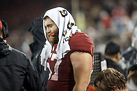 Stanford, CA - November 26, 2016: Johnny Caspers during the Stanford vs Rice game Saturday at Stanford Stadium.<br /> <br /> Stanford won 41- 17.