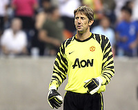 Edwin Van Der Sar #1 of Manchester United during the 2010 MLS All-Star match against the MLS All-Stars at Reliant Stadium, on July 28 2010, in Houston, Texas .MANU won 5-2.