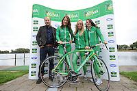 SCHAATSEN: MAARSSEN: InnStyle, 25-10-2012, Perspresentatie Team Activia, Paul van Nuland (WeCycling), Diane Valkenburg, Annette Gerritsen, Laurine van Riessen, ©foto Martin de Jong