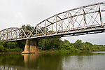 Bridge at FM 521 in the town of Brazoria over the Brazos River, Brazoria County, Texas.