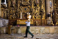 The Capilla del Rosario in the Santo Domingo church. City of Puebla, Mexico