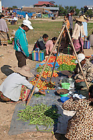 """Myanmar, Burma.  Local """"Five-Day"""" Market, Inle Lake, Shan State.  Note Tripod Support for Scale."""