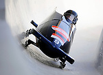 15 December 2007: Monaco 1 pilot Patrice Servelle with brakeman Sebastien Gattuso exit a turn during their first run at the FIBT World Cup Bobsled Competition at the Olympic Sports Complex on Mount Van Hoevenberg, at Lake Placid, New York, USA. ..Mandatory Photo Credit: Ed Wolfstein Photo