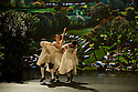 "London, UK. 03/12/11. ""Matthew Bourne's Christmas"" is filmed at Ealing Studios. The show comprises extracts of nine of his finest works over his 25 year career. Picture shows an extract from ""Town & Country"". Dancers are: Chris Marney, Kerry Biggin, Noi Tolmer and Dominic North."