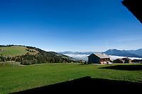 Impressions of the Bregenzerwald valley from the top of the Bödele mountain, in Vorarlberg (Austria, 16/10/2011)