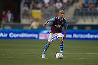 Karim El Ahmadi of Aston Villa during a match between Aston Villa FC and Philadelphia Union at PPL Park in Chester, Pennsylvania, USA on Wednesday July 18, 2012. (photo - Mat Boyle)