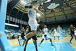 24 November 2012: North Carolina's Krista Gross (21) keeps the ball in play. The University of North Carolina Tar Heels played the La Salle University Explorers at Carmichael Arena in Chapel Hill, North Carolina in an NCAA Division I Women's Basketball game. UNC won the game 85-55.