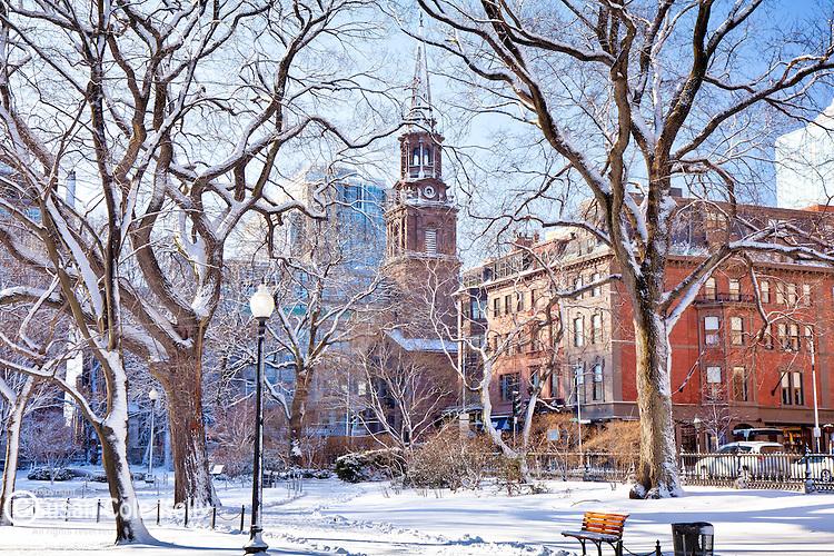 Arlington Street Church at the Boston Public Garden, Boston, MA, USA