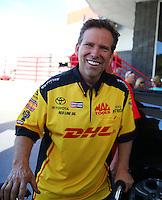 Jun 19, 2016; Bristol, TN, USA; NHRA funny car driver Del Worsham during the Thunder Valley Nationals at Bristol Dragway. Mandatory Credit: Mark J. Rebilas-USA TODAY Sports