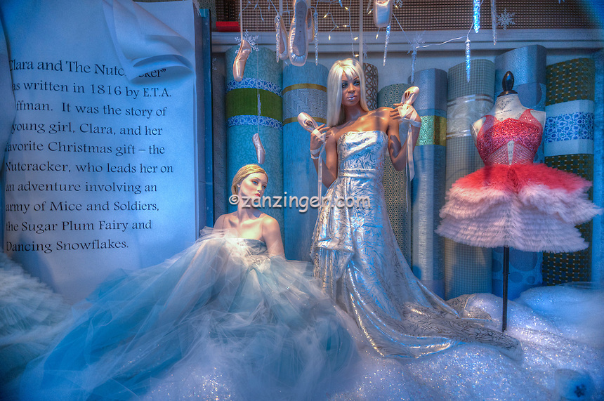 Neiman Marcus, Beverly Hills CA. American luxury specialty department store, fashion and designer merchandise Nutcracker Ballet Marchesa dresses