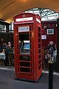 London, UK. 15.11.2014. An ATM in a converted red telephone box at Borough Market. Photograph © Jane Hobson.