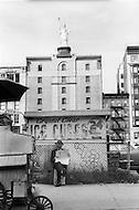 New York City, New York, Summer of 1966. Street scene on Broadway and 60th Street.