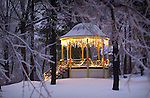 gazebo in Winter, Eagles Mere, PA