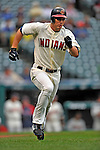 13 September 2008: Cleveland Indians' outfielder Grady Sizemore in action against the Kansas City Royals at Progressive Field in Cleveland, Ohio. The Indians fell to the Royals 8-3 in the first game of their double-header...Mandatory Photo Credit: Ed Wolfstein Photo