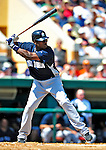 11 March 2009: New York Yankees' infielder Angel Berroa in action during a Spring Training game against the Detroit Tigers at Joker Marchant Stadium in Lakeland, Florida. The Tigers defeated the Yankees 7-4 in the Grapefruit League matchup. Mandatory Photo Credit: Ed Wolfstein Photo