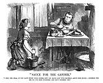 """""""Sauce for the Gander."""" """"I say, Joe, dear, if you can't enjoy your supper now you have lost your grumble about nine hours—grumble for me, as I've done fourteen, and ain't finished yet."""""""