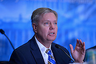 March 14, 2013  (National Harbor, MD)  U.S. Senator Lindsey Graham (R-SC) speaks to attendees of the 2013 Conservative Political Action Conference (CPAC).  (Photo by Don Baxter/Media Images International)