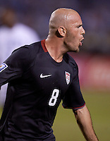 Conor Casey is celebrates after scoring one of two goals against Honduras. .USA clinches a spot in the  2010 World Cup after defeating Honduras in 3-1 during CONCACAF qualifying in San Pedro Sula, Honduras, October 10, 2009.