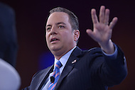 National Harbor, MD - March 4, 2016: Republican National Committee chairman Reince Priebus discusses the state of the Republican party at the 2016 Conservative Political Action Conference, hosted by the American Conservative Union, at the Gaylord National Hotel in National Harbor, MD, March 4, 2016. Each year, CPAC brings thousands of  people together to hear and interact with conservative movement leaders.   (Photo by Don Baxter/Media Images International)