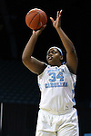 04 November 2015: North Carolina's Xylina McDaniel. The University of North Carolina Tar Heels hosted the Wingate University Bulldogs at Carmichael Arena in Chapel Hill, North Carolina in a 2015-16 NCAA Women's Basketball exhibition game. UNC won the game 86-84.