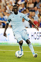 C.J Sapong (17) forward Sporting KC in action...Sporting KC defeated San Jose Earthquakes 1-0 at LIVESTRONG Sporting Park, Kansas City ,Kansas,...