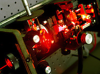 Detail of an experimental laser being developed for medical use.