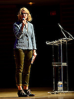 MIAMI, FL - OCTOBER 19: Elizabeth Gilbert in conversation with Mitchell Kaplan about her new book 'Big Magic' presented by Books and Books at the James L Knight Concert Hall at Adrienne Arsht Center on Monday October 19, 2015 in Miami, Florida. Credit: MPI10 / MediaPunch